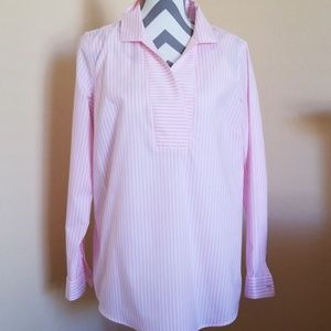 Talbots Top in Pink Stripes